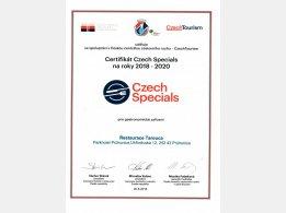 CzechSpecials certifikát